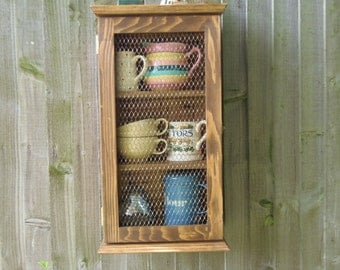 WOODEN WALL CUPBOARD