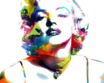"Marilyn Monroe| 14""x18"" | Stretched Canvas Wall Art |"