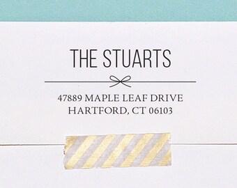 Self Inking Address Stamp, Custom Address Stamp, Housewarming Gift, Wedding Gift, Holiday Address Stamp, A119