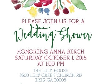 Fall Floral Invitation
