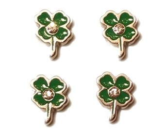 Clover Tiny Magnets Set with rhinestones