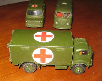 Vintage Dinky Toy Fordsom Military Army Ambulance No 626 1956 – 1961 Diecast