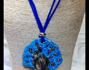 Necklace tree of life polymer clay, unique gift, gift for her, jewelry protection, sacred symbols, personalized gift, jewel of yoga