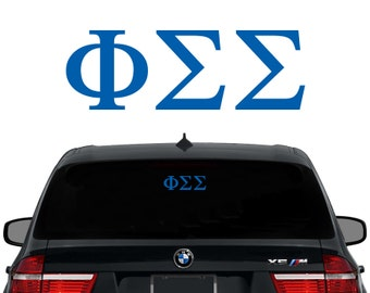 PhiSig Phi Sigma Sigma Greek Letters Sorority Decal Laptop Sticker Car Decal