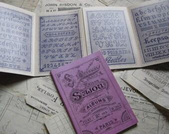 Sajou Mauve Cross Stitch Album 105- French Vintage Alphabet Samplers