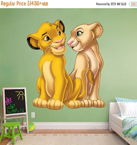 Simba Nala Wall Decal by SuperTopWallDecals
