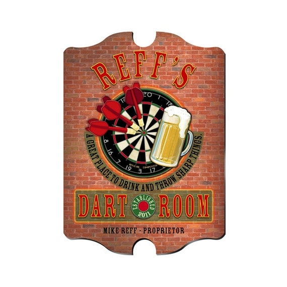 Man Cave Vintage Signs : Personalized man cave sign vintage bar decor