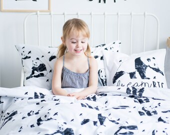 Panda Bedding - Children Bedding Set Toddler Bedding Set Nursery Bedding