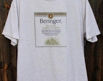 1990's Beringer Napa Valley Cabernet Sauvignon Oneita Large T shirt