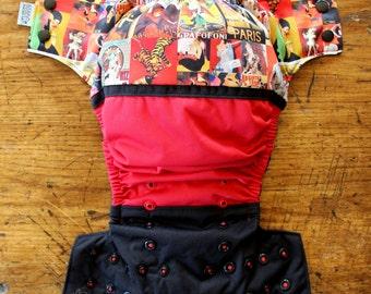 ON SALE - One Size Pocket Cloth Diaper - Wraparound: PARIS