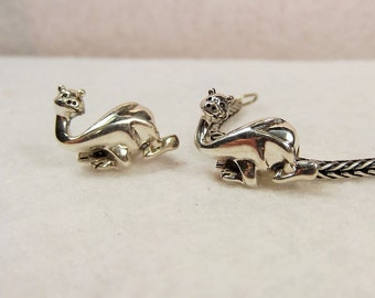 Dragon charm bead 925 Sterling silver Fits and compatible with popular brand names European bead charm