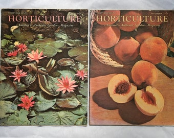 Horticulture Magazazine August and September 1960 America's Authentic Garden Magazine Vintage