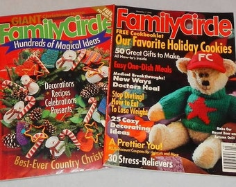 Family Circle Magazines Vintage Holiday Issues