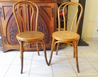 Pair of chairs signed Bistro Fischel bentwood to 1920 inspired deThonet/illuminati10