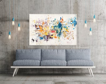 Abstract Oil Painting - Original Painting - Impasto - Gold Leafing - Wrapped Canvas - Multiple Sizes