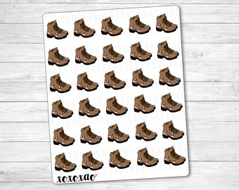 B074   Hiking Boots Stickers