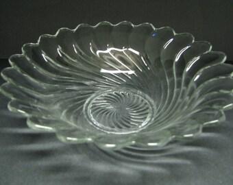 "Fostoria Colony Flared bowl 11""  centerpiece console"