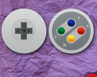 SNES Controller 2 Sticker Set