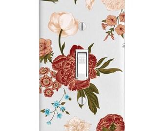 Home Decor Light Switch Cover-Asian Garden-Floral-Flowers-Housewarming-Lighting-Wall Decor-Kitchen Decor-Bathroom Decor-single light switch