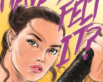 Daisy Ridley as Rey from Star Wars Episode VIIl The Force Awakens (signed prints) © Iván García