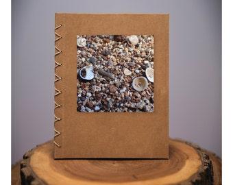 Shells - handmade blank kraft paper notebook