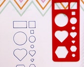T005 - Red Universal Planner Stencil Bookmark ~ Fits Most Planners
