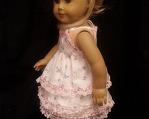 Homemade 18 Inch Doll Clothes: 2 Piece Summer Outfit Includes Sleeveless Top And Matching Skirt