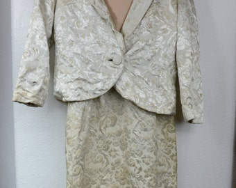 Anita Modes 1960s Brocade Dress and Jacket