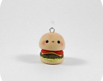 Kawaii Burger B - Polymer Clay Charm