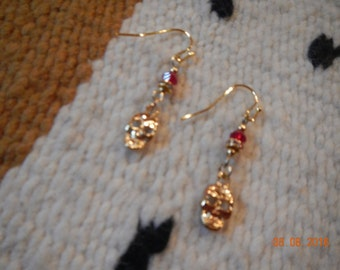 Gold-tone Skull Earrings with Swarovski Crystal Elements