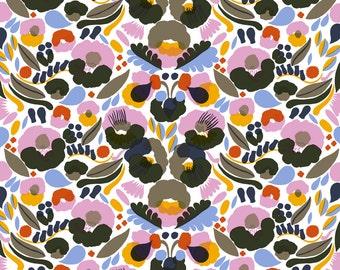 Oilcloth tablecloth | Marimekko oilcloth tablecloth  | green blue pink yellow oilcloth | Marimekko Hattarakukka oilcloth
