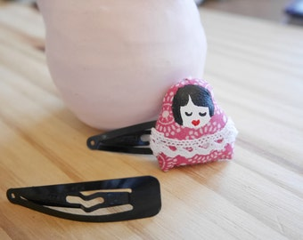 Baby Pink Asian decorated black bars