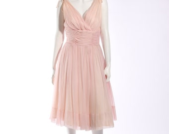 1950s Pale Pink Party Dress