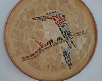 Ceramic tiles bird mosaic mosaico uccello tessere ceramica