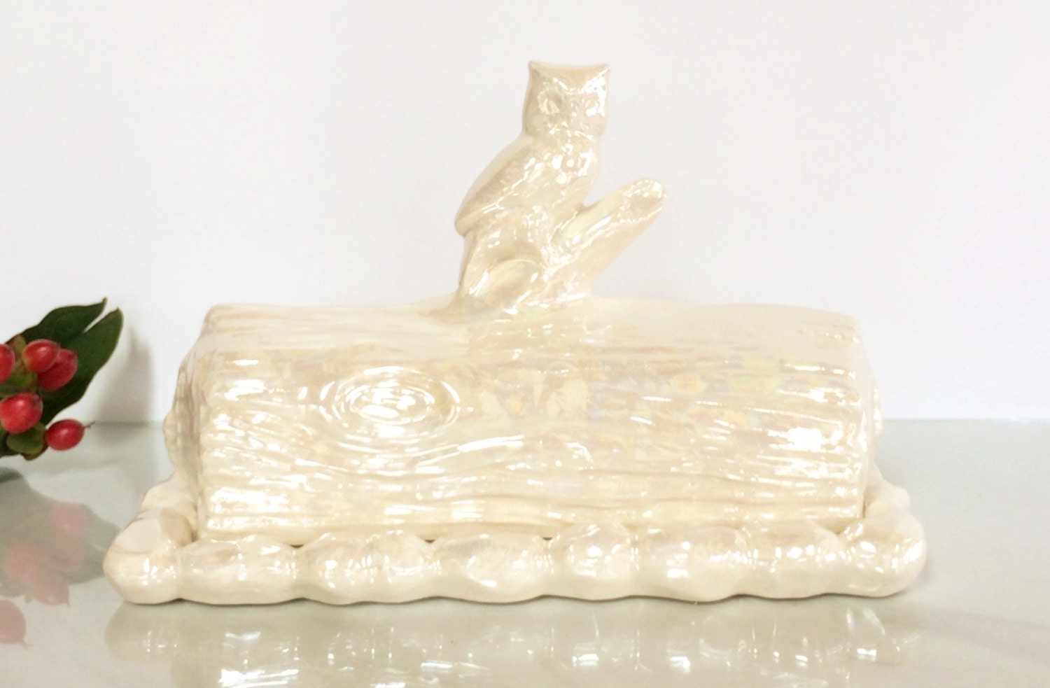 Ceramic Butter Dish Owl Butter Dish Butter Dish With Lid