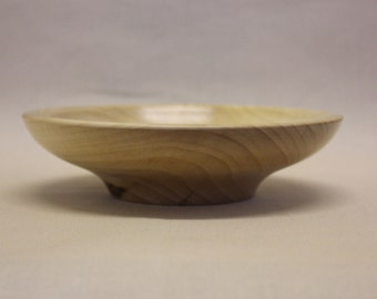 Turned wooden lime bowl