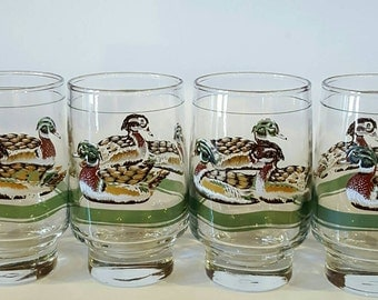Mallard Duck Glasses by Libbey