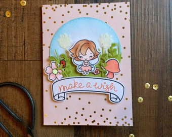 "Hand Stamped ""Fairy"" Birthday Card"