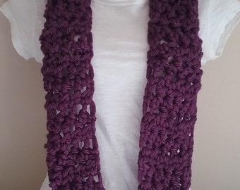 Handmade Infinity Scarf - Purple