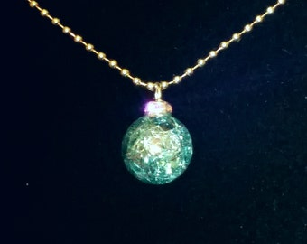 Crystal ball necklace charm