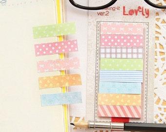 Lovely Pastel Masking Sticky Notes