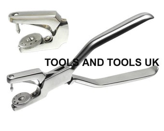 "Heavy Duty 7"" Jewelry Rotatory 5 Hole Punch Pliers Metal Leather Sheets Tool"