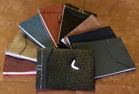 Assorted Leather Travel Notepads