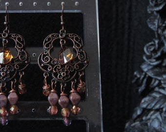 "Earrings ""Rose Gold"" - II"