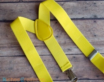 Yellow Suspenders for Kids -  Boys Suspenders - Baby Suspenders - Toddler Boys Suspenders - Baby Boy Suspenders - Toddler Suspenders