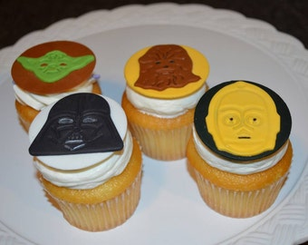 Star Wars fondant cake or cupcake toppers.