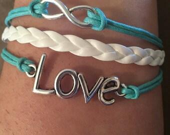 Infinity bracelet love