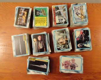 Very Large Lot of Star Wars The Empire Strikes Back Trading Cards
