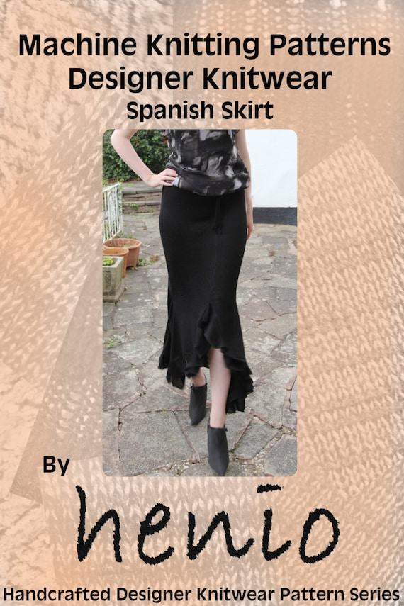 Knitting Crochet In Spanish : Spanish skirt machine knitting pattern