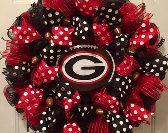 University of Georgia, University of Georgia wreath, Georgia Bulldogs, University of Georgia sign, Georgia football wreath, college gift